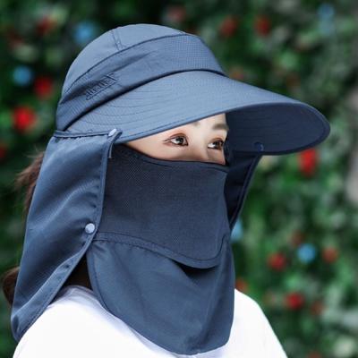 여자 여름 여행 농사 자외선 햇빛 차단 썬캡 모자