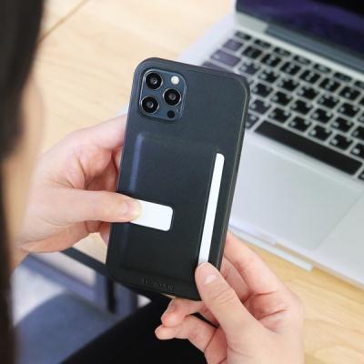 아이폰12 시리즈 슬림형 가죽 케이스 블랙