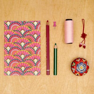 패턴엽서 - 부채춤 (분홍색)