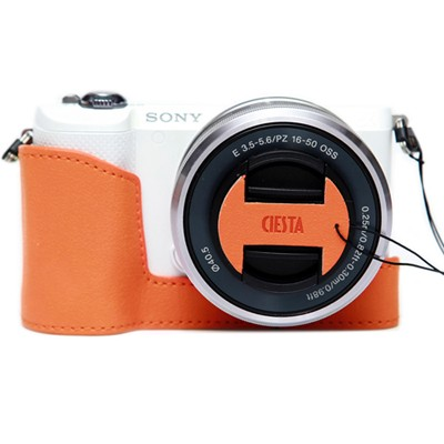 씨에스타 Sony a5100/a5000  겸용 속사케이스 & 캡스킨 - 오렌지