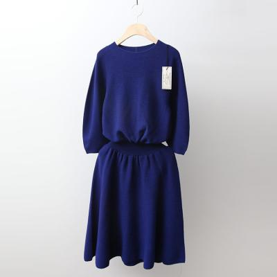 Laine Wool Fit N Flare Knit Dress