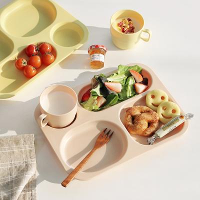 나나 식판+컵 세트 어린이식판 나눔접시 브런치접시