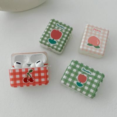 에어팟케이스 빈티지 체크 tpu 박스 ap-0126
