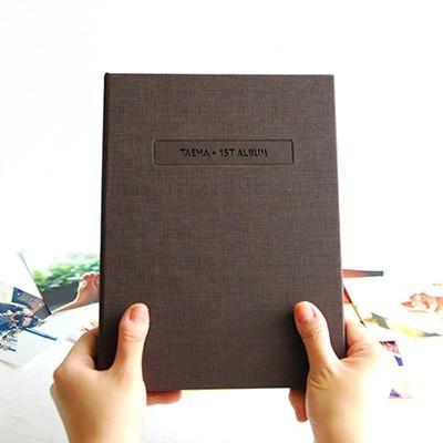 THE MOMENT 접착식앨범X스크랩북 바인딩 포토앨범-브라운