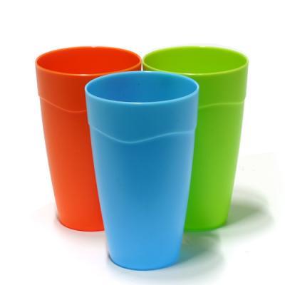 파스텔 멀티컬러 다용도 플라스틱컵 대 3P(색상랜덤)
