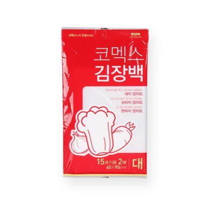 코멕스 김장 비닐봉투백 대 15포기용 2매