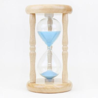 향나무 우드원형 모래시계 5분