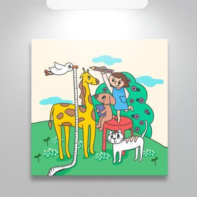 cq135-어린이와동물친구들_소형노프레임