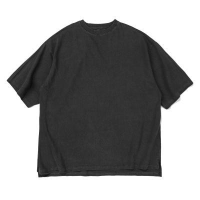 CB 아콘 피크먼트 오버핏 티셔츠 (차콜)
