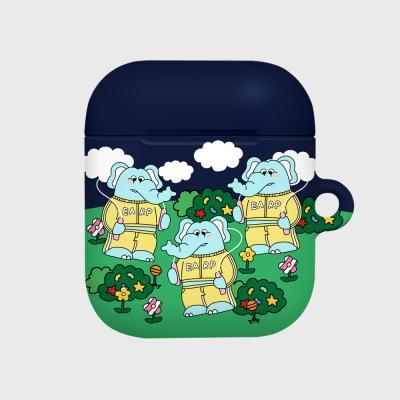 jumping kkikki-navy/green(Hard air pods)