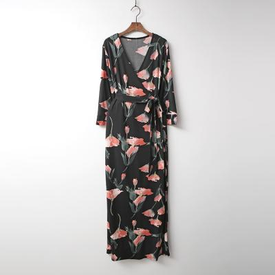 Cara Wrap Long Dress