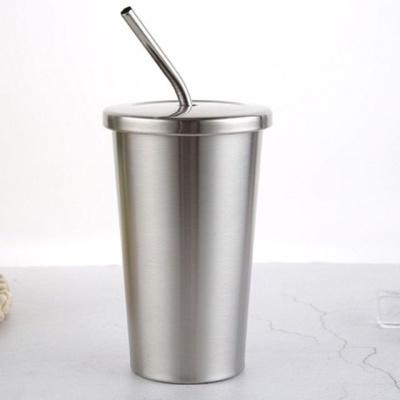 스텐 빨대텀블러 700ml 보온보냉 음료 커피 워터 보틀