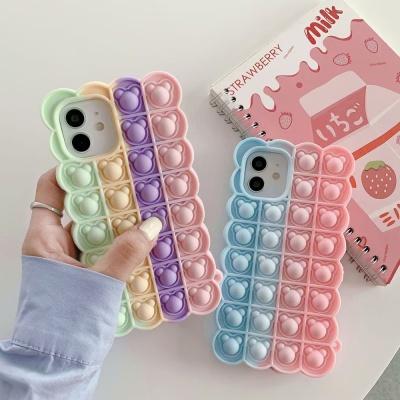 아이폰12 미니 11 pro max 젤리곰 푸쉬팝 팝잇 케이스