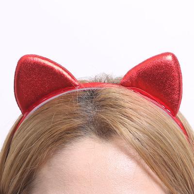 칼라 폼 고양이 머리띠 (레드)