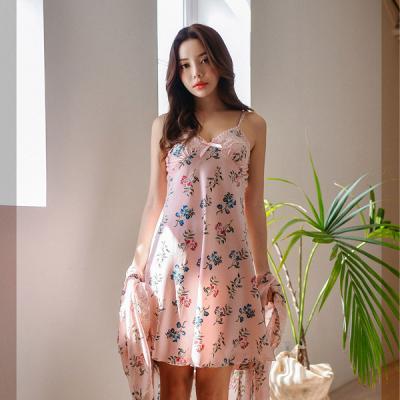 [쿠비카]더스티핑크 플라워 앙상블 여성잠옷 W315