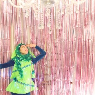 메탈 수술 파티 커튼 (1mX2m) - 핑크
