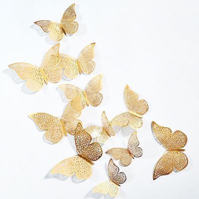 3D 나비 입체포인트 스티커B-gold 12P