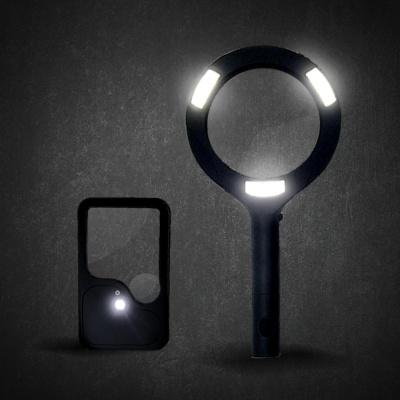 빛나는 LED 돋보기 2종세트(손잡이형+카드클립형)
