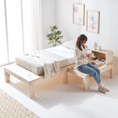 원룸침대 평상 침대프레임 매트리스깔판 ㄱ자형