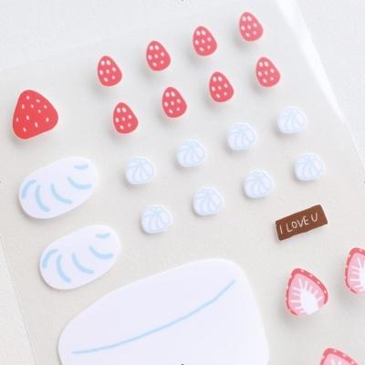 딸기 케이크 쿠킹클래스 스티커