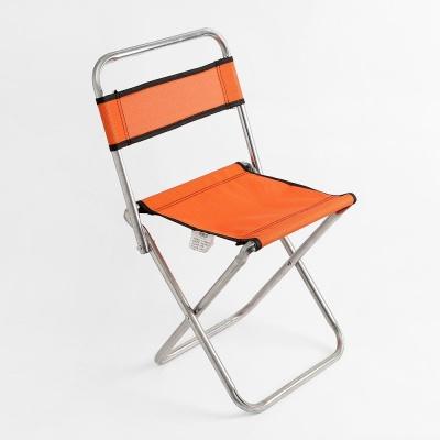 캠프 접이식 등받이 레저의자 오렌지 휴대용의자