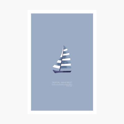 트로피칼 포스트카드 엽서 - Sailing
