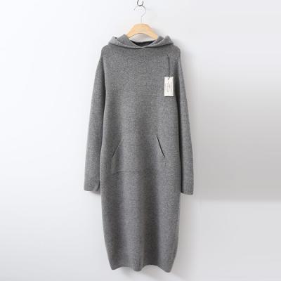 Laine Cashmere Wool Hood Dress