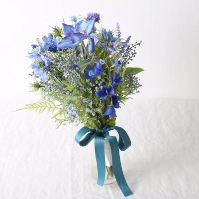 [마쉬매리골드]핸드메이드 클래식 블루 웨딩 부케