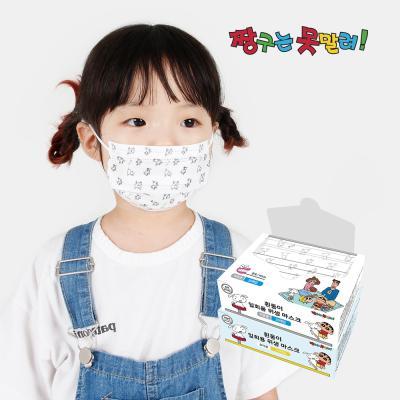 짱구 흰둥이 위생마스크 1BOX 30입(유아용)-흰색