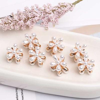 Mujer Daily mini pearl flower 집게핀 CH1647037