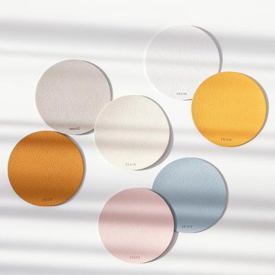 홈카페 고급 방수 가죽 양면 원형 티코스터 컵받침