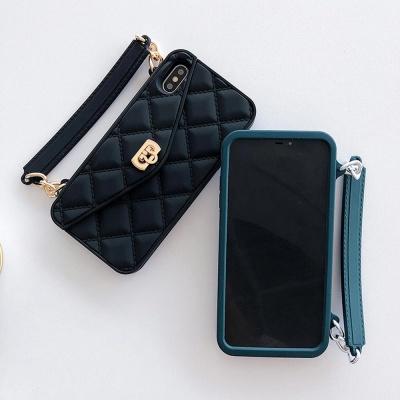 아이폰11 프로 맥스 XR XS 8 7 체인 카드지갑 케이스