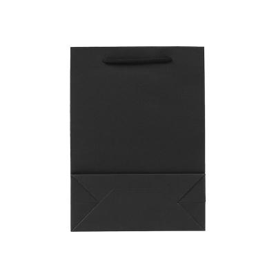 무지 세로형 쇼핑백(블랙)(25x33cm)