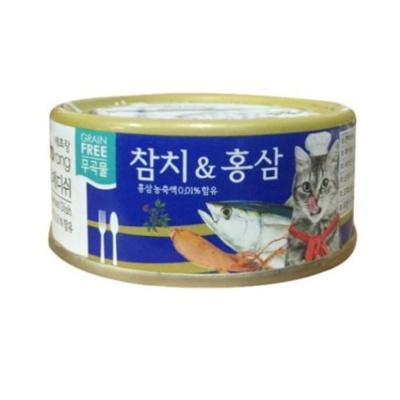 고메디쉬 참치 홍삼 90g 고양이 영양 보충 간식