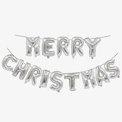 MERRY CHRISTMAS 크리스마스 은박풍선 실버 풍선파티