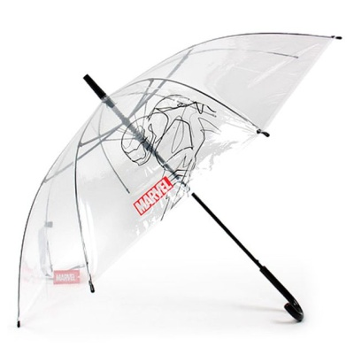 마블 아이언맨 58 포스 POE 우산 초등학생 자동 투명