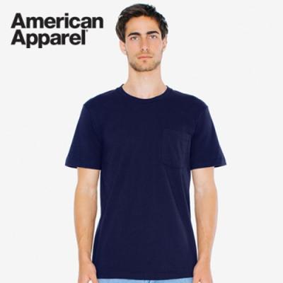 아메리칸어패럴 남녀공용 포켓 반팔 티셔츠 6color