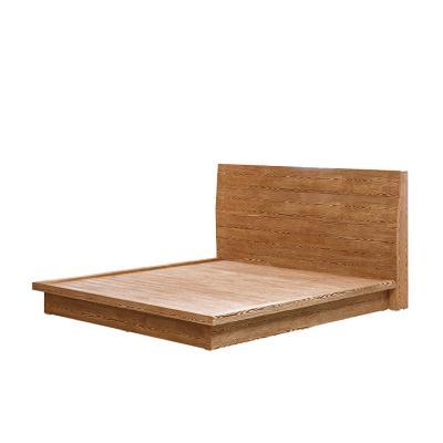 우즈 원목 저상형 침대 Q (매트미포함)