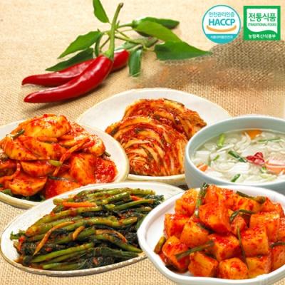 깍두기+나박물김치+석박지김치+갓김치+맛김치x각1kg