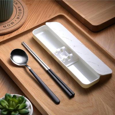 쿠킹홈 휴대용 수저 세트(화이트)