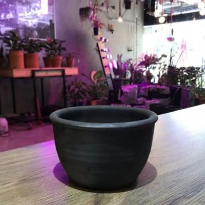 빈티지 블랙 흑시루 17x10cm (2호) 토분(검정 화분)