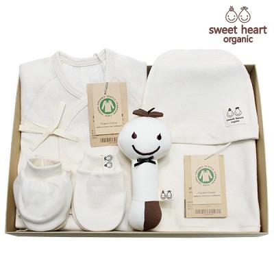 [출산선물]오가닉 내츄럴 풀잎 신생아 선물세트