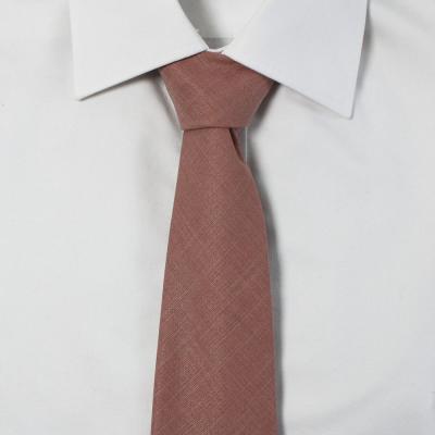 남자 무지 소프트 핑크 넥타이