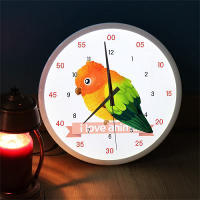 ng193-LED시계액자35R_귀여운아기새