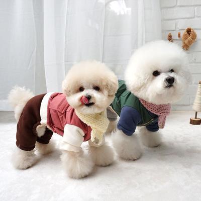 강아지겨울옷 애견패딩올인원 캐주얼 올인원
