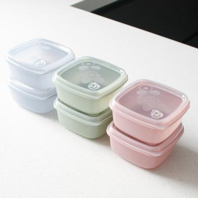 국산 실리콘 용기(밥팩) 2Pset - 3color
