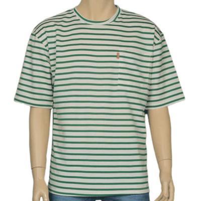 남성 여성 여름 데일리 반팔 티셔츠 레벨 포켓 보더티