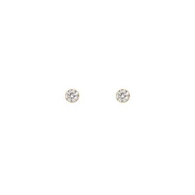 베리 화이트 귀걸이(2.5MM)