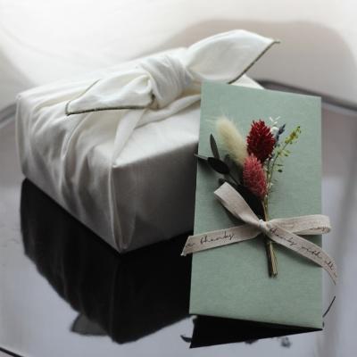 프리저브드꽃 명절축하시즌 상품권돈봉투(카키)