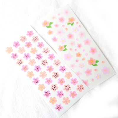 스티커펀 벚꽃 사쿠라 펄 스티커(st120)